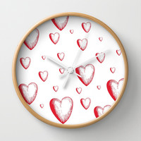 Lovely Hearts Wall Clock by NisseDesigns