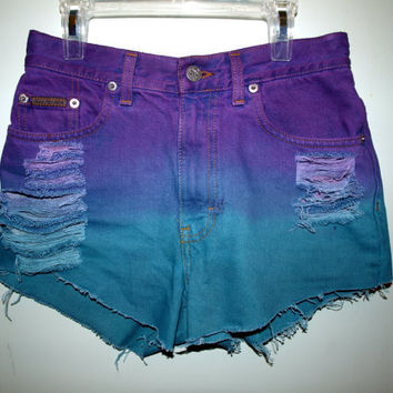 Purple and Blue Dip Dyed Vintage Calvin Klein by Azita001 on Etsy