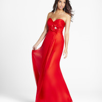 SALE! Blush 2012 Homecoming Dresses - Red Chiffon Rose Sweetheart Prom Gown