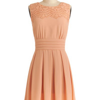 V.I.Pleased Dress in Peach | Mod Retro Vintage Dresses | ModCloth.com