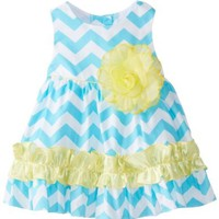 Rare Editions Baby Baby-Girls Newborn Chevron Printed Woven Dress