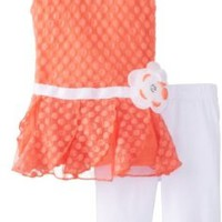 Little Lass Baby-Girls Infant 2 Piece Fancy Dress Set Puckered Dot Tulle