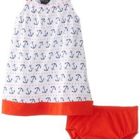 Nautica Baby-Girls Infant Anchor and Dot Print Dress