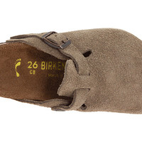 Birkenstock Kids Boston (Toddler/Little Kid/Big Kid) Taupe Suede - Zappos.com Free Shipping BOTH Ways