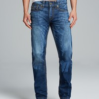 True Religion Jeans - Ricky Big QT Straight Fit in Bahm Road Blues