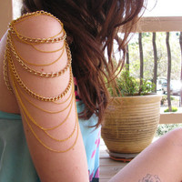Gold mutli chain arm chain by houseofmarissanicole on Etsy