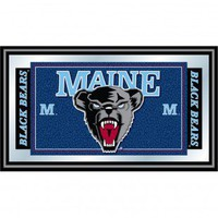 Trademark Global University of Maine Logo and Mascot Framed Mirror - LRG1525-ME - All Wall Art - Wall Art & Coverings - Decor