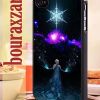 elsa frozen space - iPhone 4/4s/5/5s/5c Case - Samsung Galaxy S3/S4 - Blackberry z10 - iPod 4/5 Black or White