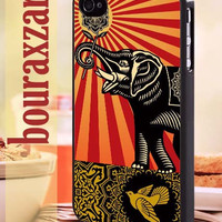 black elephant obey - iPhone 4/4s/5/5s/5c Case - Samsung Galaxy S3/S4 - Blackberry z10 - iPod 4/5 Black or White