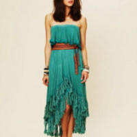 Jen's Pirate Booty Fringed Goddess Long Dress at Free People Clothing Boutique
