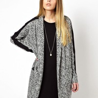 Noisy May Snake Printed Oversized Blazer -