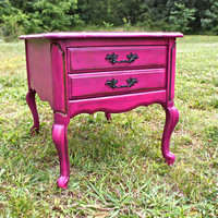 Beautiful Magenta Night Stand by AquaXpressions