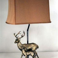 Deer and Fawn Lamp