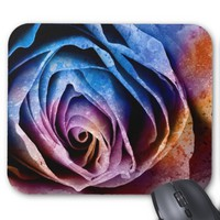 Colorful Acrylic Textured Rose Mousepad