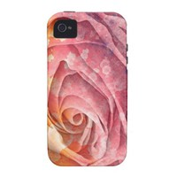 Pretty Colorful Painted Rose iPhone 4/4S Case