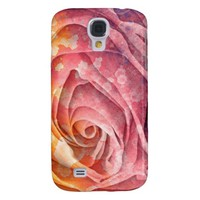 Pretty Colorful Painted Rose Galaxy S4 Case