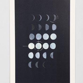 Paul Tebbott Must Be The Moon Art Print- Black & White One