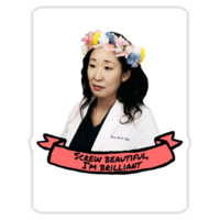 Greys Anatomy - Screw Beautiful, I'm Brilliant Sticker