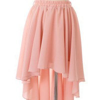 Asymmetric Waterfall Skirt in Peach - Chic+ - Retro, Indie and Unique Fashion