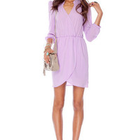 Plus One 2 Dress in Lavender :: tobi