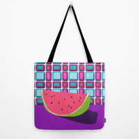 Fruit with Wallpaper (watermelon) Tote Bag by The Wallpaper Files
