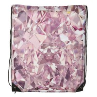 Pink Diamond Drawstring Backpack