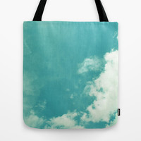 CLOUDY AND CLEAR Tote Bag by Allyson Johnson