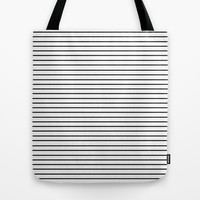 Minimal Stripes Tote Bag by Allyson Johnson