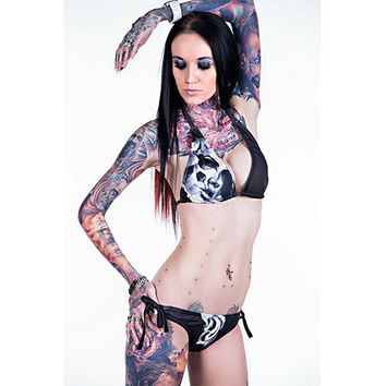 """Judgement"" Bikini by Ominous Clothing (Black)"