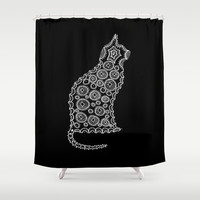Cat Zendoodle Design Shower Curtain by Zany Du Designs
