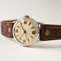 Vintage mechanical watch mens wrist watch Raketa by SovietEra