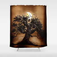 Moonlight II (colour option) Shower Curtain by Viviana González
