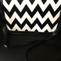 Chevron Print Clutch & Crossbody Bag - Che Bello