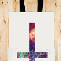 BAG Galaxy Inverted Cross Bag Art Bag Galaxy Bag Inverted Bag Chic Bag Women Bag Men Bag Canvas Tote Bag Diaper Bag Gift Bag Big Size