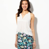 AE TROPIC FLORAL BODYCON SKIRT