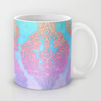 The Ups and Downs of Rainbow Doodles Mug by micklyn