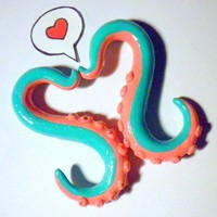 Custom Tentacle Gauges by papersouls on Etsy