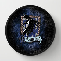 Harry potter Ravenclaw team flag emblem Decorative Circle Wall Clock Watch by Three Second