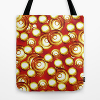 Circles Pile Pattern Tote Bag by Danflcreativo