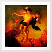 The angel sower of butterflies Art Print by Ganech joe