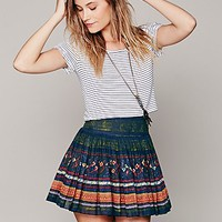 Free People FP ONE Thai Print Mini Skirt