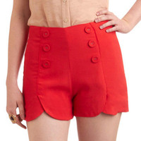 Sailor Squad Shorts in Red | Mod Retro Vintage Shorts | ModCloth.com