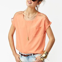 Slashed Pocket Tee in  Clothes at Nasty Gal