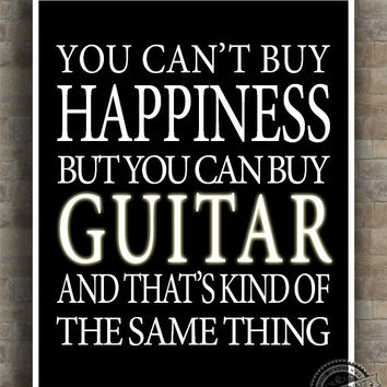 guitar inspirational quote poster from inkist prints