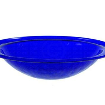 Crackle Glass Bowl Cobalt Blue