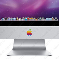 iMac Apple Retro Logo Overlay by kellokult on Etsy