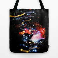 galaxy rave lights  Tote Bag by Sari Klein
