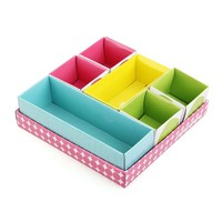 DIY Storage Organizer Box with Cover Paper Desk Decor Stationery Cosmetic