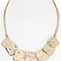 Belle Noel Molten Gold Squares Necklace, 18"