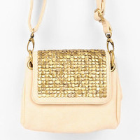 Studded Abroad Crossbody Bag in Ivory :: tobi